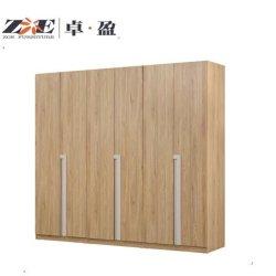 Garderobe der Schlafzimmer-Möbel-moderne hohe glatte Walnuss-6-D
