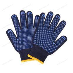 De marineblauwe Voering schroeide Opgeruimde pvc Gestippelde Handschoenen