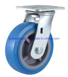 Dubbele kogellagers zwaar industrieel zwenkwiel PU/ rubber/PP/nylon zwenkwiel Wiel