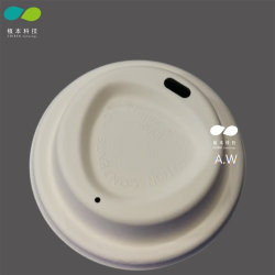 Special Design Dia 80mm, 90mm Biodegardable Einweg-Sugarance Bagasse Pulp Kaffee Cup Deckel