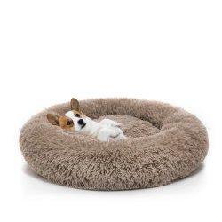 [هوتسل] [أنتي-سليب] ليّنة دافئ مستديرة [فوإكس] فروة كلب سرير رفاهية محبوب سرير لأنّ كلاب صغيرة مع فراش ليّنة