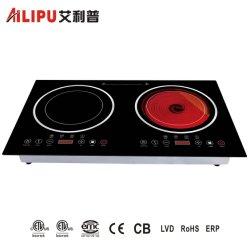 Домашняя кухня прибора 2 дисков многофункциональный Ик плита vs электрическая плита для приготовления пищи