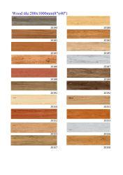 La porcelaine planche en bois rustique en carreaux de céramique pour sol et mur