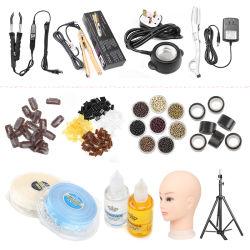 KITS D'outils D'extension pour cheveux de plume 500PCS 5mm silicone micro Liens/perles+ crochet crochet aiguille+ pince à boucle de traction+ pince