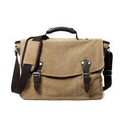 人のためのBSCIの工場キャンバスの革ラップトップの肩のメッセンジャー袋