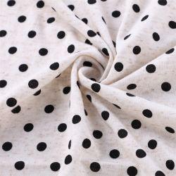 Textil de poliéster Yigao 85%15%de Single Jersey pigmento de la tela de lino tejido de punto de impresión
