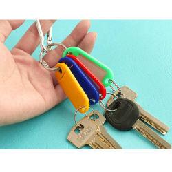 Plastic sleutellabels voor sleutelhangers naamkaartjes Bagage