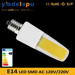 La luz diurna LED E14 230V de cerámica blanca fría Bombillas PC