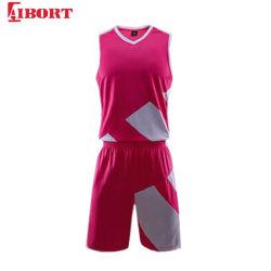 Aibortの2020年の製造業者のカスタムジャージは設計するあなた自身のCamoのバスケットボールのユニフォーム(J-BSK032 (3))を