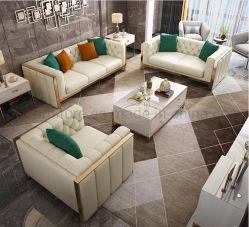 2021 커피용 탁자를 가진 새로운 현대 거실 가죽 소파