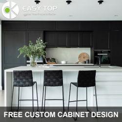 Russland große Chipboard moderne Gesicht Rahmen Schwarz und Weiß ausgestattet Küche Moderne Küche Schrank
