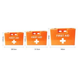 Caixa de armazenamento de plástico conteúdo opcional de primeiros socorros em caso de plástico vazio ou caixa de primeiros socorros