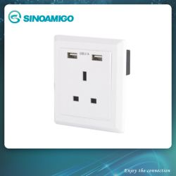BS разъема с двумя зарядное устройство USB 13A
