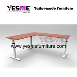 Simples e moderno mobiliário de escritório Corner-Straight ergonômico ajustável suporte Sit Escritório Executivo de estação de jogos permanente Secretária