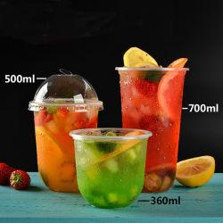 Wegwerf-Form-kundenspezifisches Firmenzeichen-Plastikcup pp.-U für Luftblasen-Tee-Milch-Tee-Kaffee-Getränk