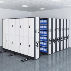 Biblioteca estanterías deslizantes Meta Gabinete Compacto Acero estanterías móviles /libreria/oficina/estante del libro de muebles de acero