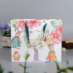 Saco de papel colorido de design personalizado imprimindo