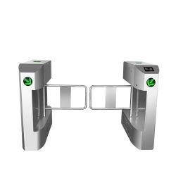 Strong seule voie barrière de rotation avec des barrières de rotation de tourniquet automatiquement lors de situations d'urgence