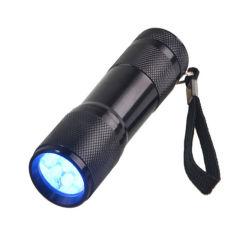 uso viola della torcia elettrica di 9LED LED per la torcia elettrica UV dell'esame delle urine animale