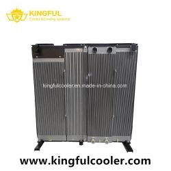 Aire enfriado por aire del radiador combinada del agua, aceite para maquinaria de construcción