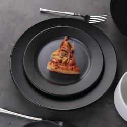 Rollin Creative Keramik Matt Schwarz Günstige Steak Teller Teller Geschirr China Dinner Set Essgeschirr Set
