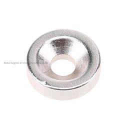 Magneti permanenti del neodimio svasati anello su ordinazione di N35 NdFeB per l'altoparlante
