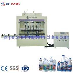 Automatische Chlorid-Füllmaschine-ätzende flüssige Verpackmaschine für Chlorid sauren grellen Clorox HCl-Chemikalien-Flüssigkeit-Einfüllstutzen