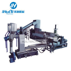 PP PE 재생 과립기 폐기물 과립 재활용을 생산하는 플라스틱 원료 핫 컷 PP PE 플라스틱 펠레타이징 기계