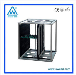 Rack caricatore antistatico regolabile ESD in plastica di alta qualità per supporto per circuito stampato
