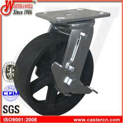 """4 """" X2 """" Wartel met het ZijWiel van de Gietmachine van het Gietijzer van de Industrie van de Rem"""