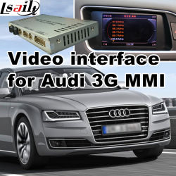 De VideoInterface van de auto voor Audi 3G Mmi 2010-2016 A4 A5 A6 A7 A8 Q3 Q5 Q7, het Androïde Facultatieve Achtergedeelte van de Navigatie en Panorama 360