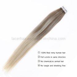 B#8-60 T couleur 100% RemyCheveux humains de latrame de la soie indienne péruvienne brésilien droites Ombresèche