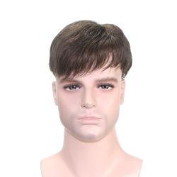 Una fuerte base de Mono - Men's Toupee pelucas Alta calidad de primera elección de reemplazo de cabello