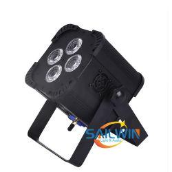 Mini 4*15W 5NO1 RGBWA LED sem fio da bateria luz PAR