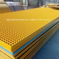 Gradeamento Pultruded GRP gradeamento de fibra de vidro da tampa da canaleta GRP