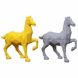 De façon moderne de couleurs personnalisées Origami Figurines de chevaux de l'artisanat en résine