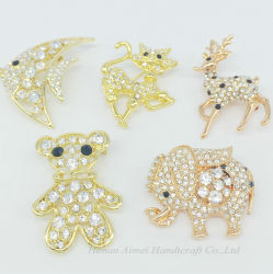 Les femmes de gros de bijoux en alliage de costume Brooch Rhinestone Fashion Animal broches