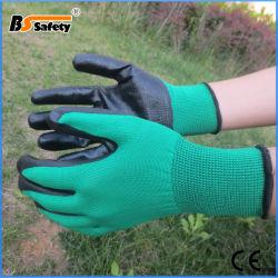 13G het gestreepte Shell van de Polyester Nitril Met een laag bedekte Werken van de Handschoenen van de Veiligheid van Handschoenen