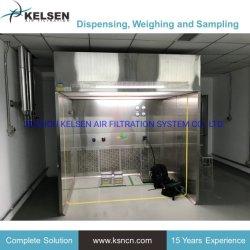 Sala de fracionamento de fluxo descendente de classe 100 amostras tampa de pesagem do estande