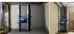 Digitale het Pleisteren van Cment van de Muur Automatische het Teruggeven Machine