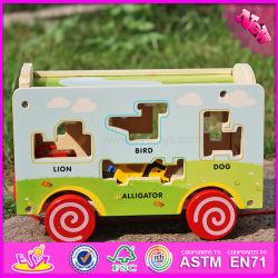2016 оптовая торговля детьми деревянная игрушка погрузчика Aniaml W05b156