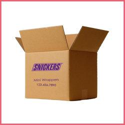 Commercio elettronico su ordinazione Brown stampato grande marchio Kraft del Amazon del fornitore o contenitore impaccante di scatola di trasporto mobile del bollettino di rimozione del cartone ondulato dell'esportazione di bianco