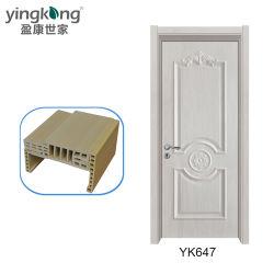 TÜR-Bauholz-Türen des Toiletten-Gebrauch-WPC hölzerne Glasgut für Bett-Räume Yk647