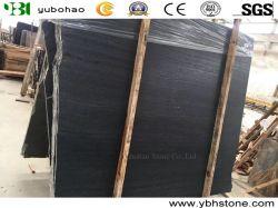 中国帝国サンダルの黒の大理石、黒い木の粒状の大理石、木製の穀物の大理石のタイル