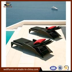Wohle Furnir Patio-Möbel-im Freien Weidenwagensun-Aufenthaltsraum-Bett (WF-301)