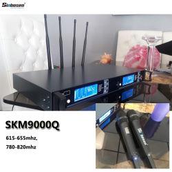 専門家UHFの無線マイクロフォンSkm9000 2チャネルの無線ヘッドセットのマイクロフォン