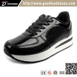 Senhora Venda quente de mídias físicas Calçado Casual Jogging Calçado com parte superior de PU (EXI-9162)