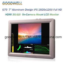 """7 """" 알루미늄 디자인 IPS 1920X1200 3G Sdi 카메라 마운트 LCD 모니터"""
