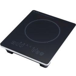 Het zwarte Kooktoestel van de Inductie van de Controle van de Aanraking 2000W van het Glas van het Kristal Super Slanke met Ingevoerde IGBT