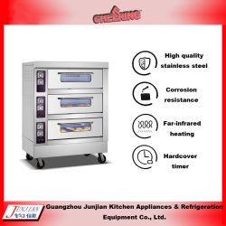 Ingebouwd Drievoudig Dek Zes de Oven van de Bakkerij van het Gas van Dienbladen voor Bakkers en de Makers van de Cake van de Pizza